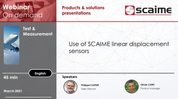 Use of linear displacement sensors scaime
