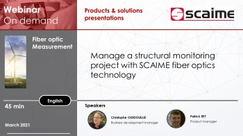 Manage a structural health monitoring project with scaime fiber optics sensors