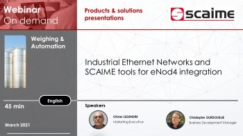 Industrial ethernet networks and tools for SCAIME enod4 integration