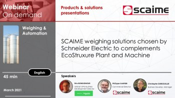 SCAIME and Schneider electric partnership for weighing applications