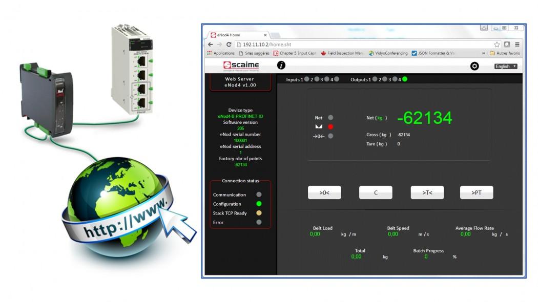 Web sunucusu SCAIME eNod4 Ethernet